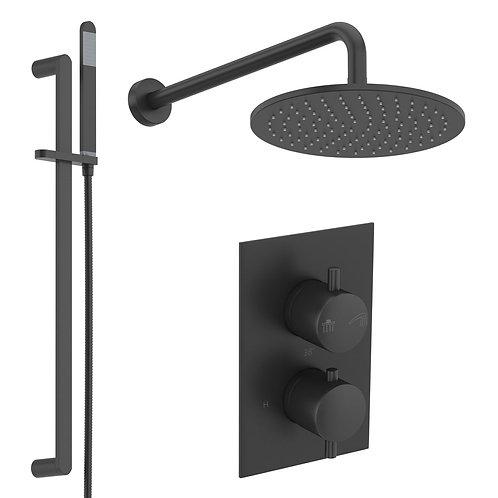 Mode black concealed shower set with slider rail kit