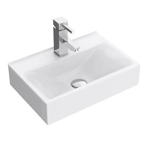 Rectangular wall hung basin