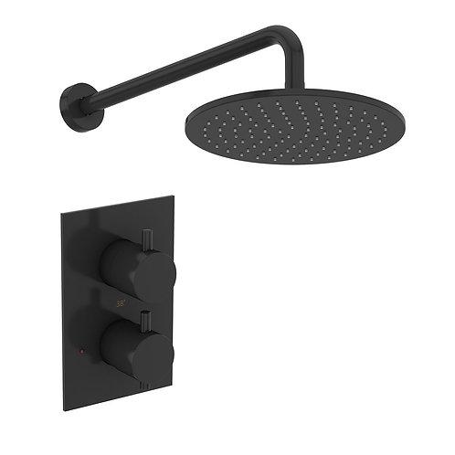 Mode black concealed shower set
