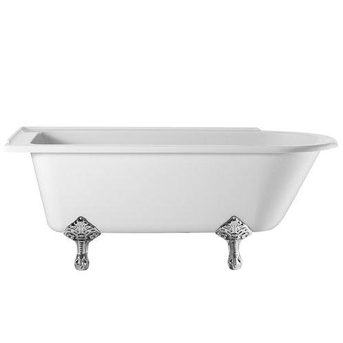 Burlington traditional showering bath with legs 1700