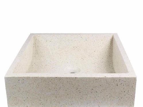 Terrazzo confetti square washbasin