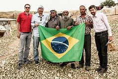 Com lideranças beduínas em Jericó