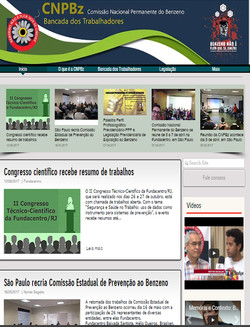 site COMISSÃO NACIONAL DO BENZENO