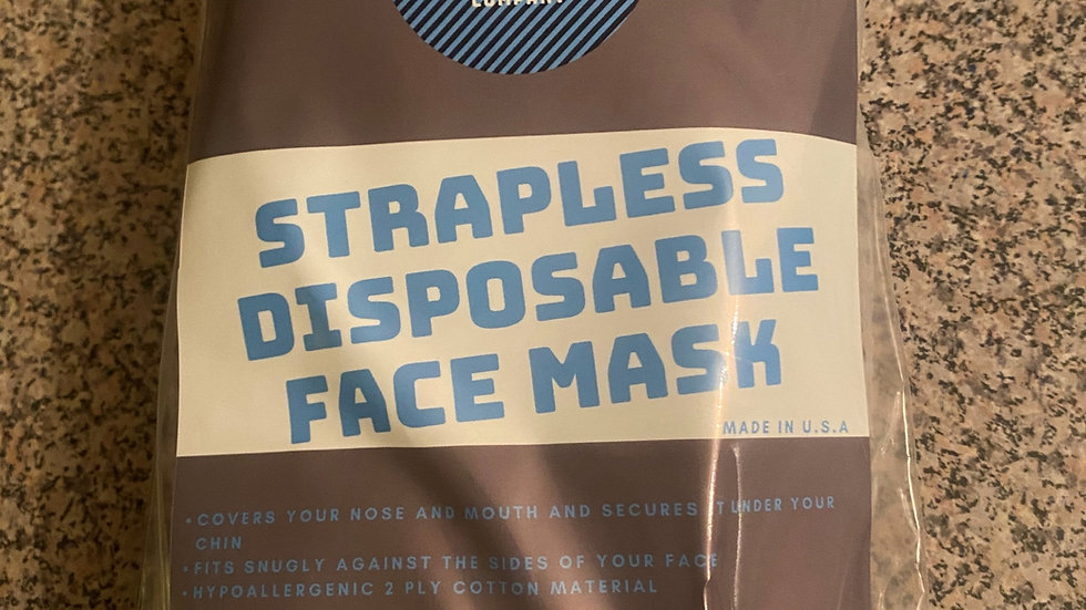 Strapless Disposable Face Mask