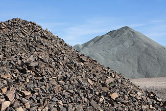 gravel-piles-are-used-for-road-maintenan