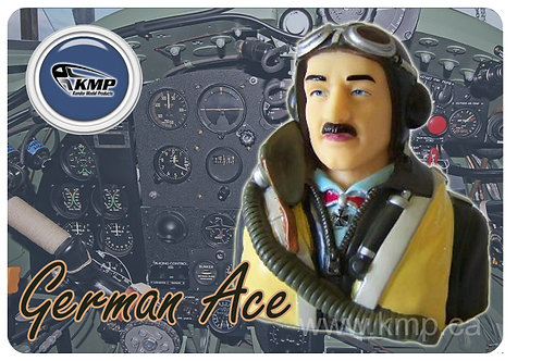 Pilot Bust  - 1/5th scale  WWII German Ace