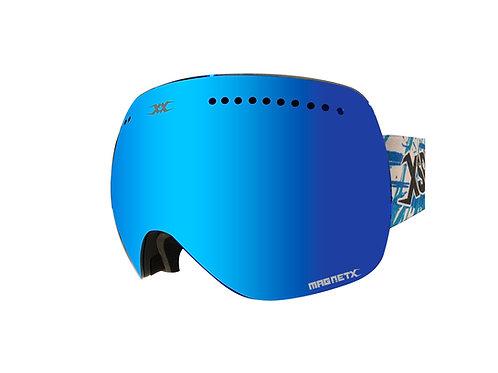 CRANK - MAG Goggle - BLUE  + Low-Light 2nd Lens
