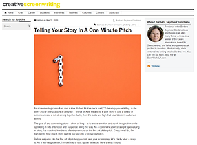 One Min Pitch - Creative Screenwriting.p