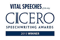 Cicero Speechwriting Award Winner 2015