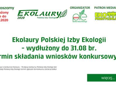 Ekolaury Polskiej Izby Ekologii - wydłużony do 31.08 br. termin składania wniosków konkursowych...