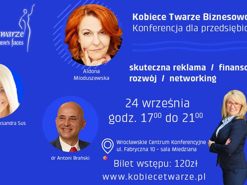 Kobiece Twarze Biznesowo - Będzie dużo kobiecej energii, inspiracji, zastrzyków konkretnej...