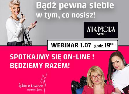 Webinar z Małgorzatą Osuch i A'la Moda Style - zobacz relację.