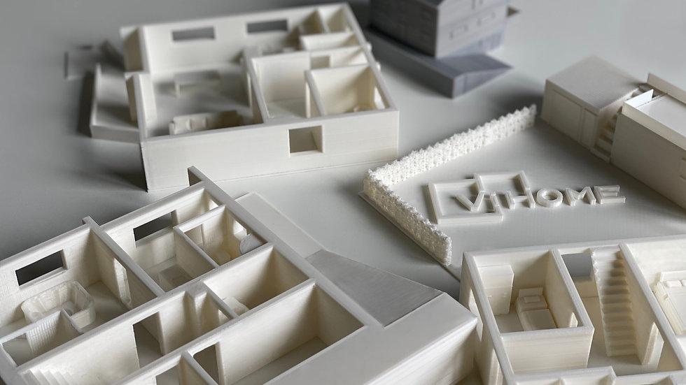 3D Etagen oder Wohnungsmodelle