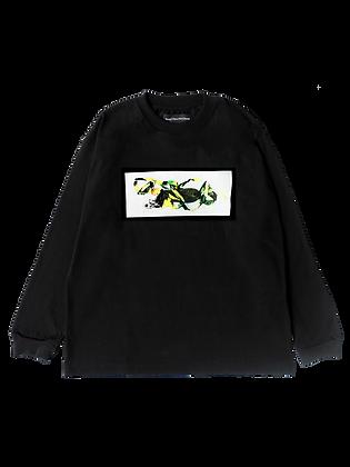 Five O Line LS T-Shirt Black