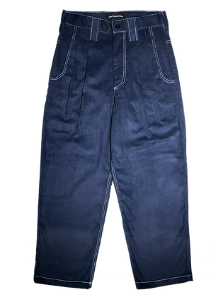 Spacey Cord Pants - Navy Blue