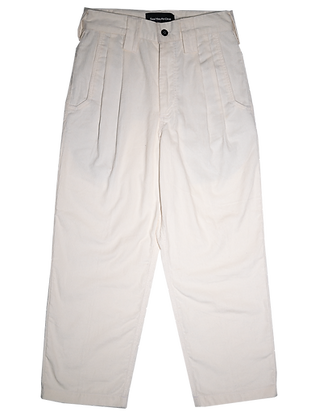 Spacey Cord Pants - Vivid White