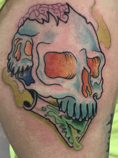 Skull with Poison