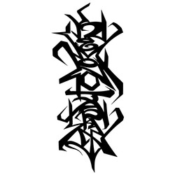 KEMONO JAPAN Letter black