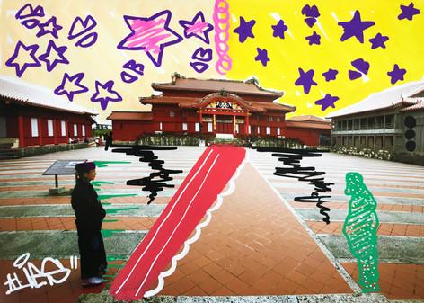 首里城 in Okinawa Japan