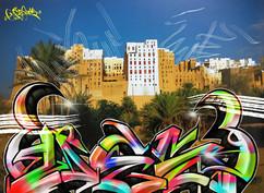シバームの旧城壁都市 in Yemen