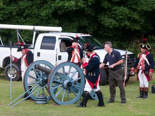 Newport Artillery Company Visits St. John's Lodge