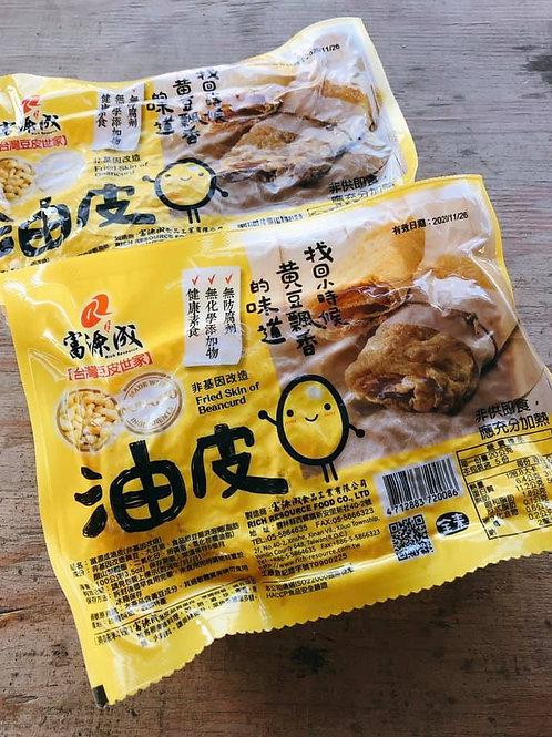 Fried Tofu Skin (Dried) 富源成非基改油皮(乾) 一包
