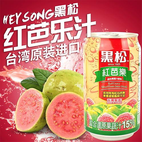 Hey Song黑松 紅芭樂汁 一份6罐