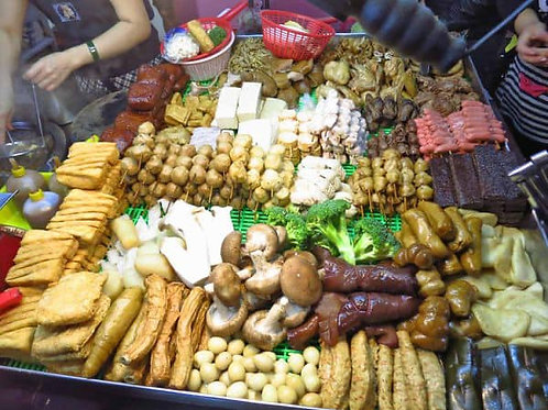 逢甲夜市風~超膨派加熱滷味 內含: 豆乾,豬耳,木耳,海帶,豆包,雞珍
