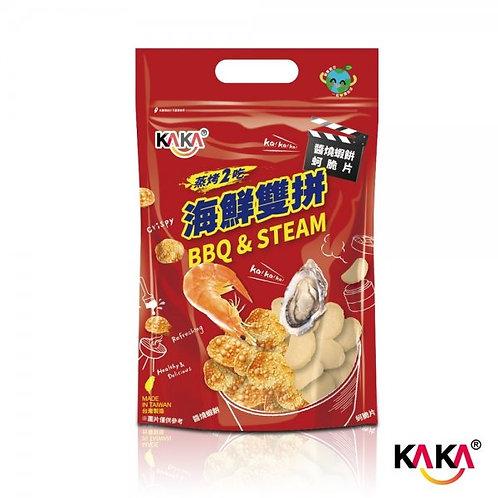 KAKA海鮮雙拼-醬燒蝦餅+蚵脆片