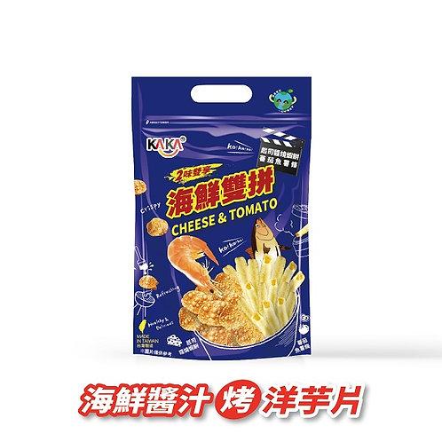 海鮮雙拼-起士蝦餅+蕃茄魚