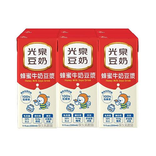 光泉豆奶 蜂蜜牛奶豆漿 一份6入