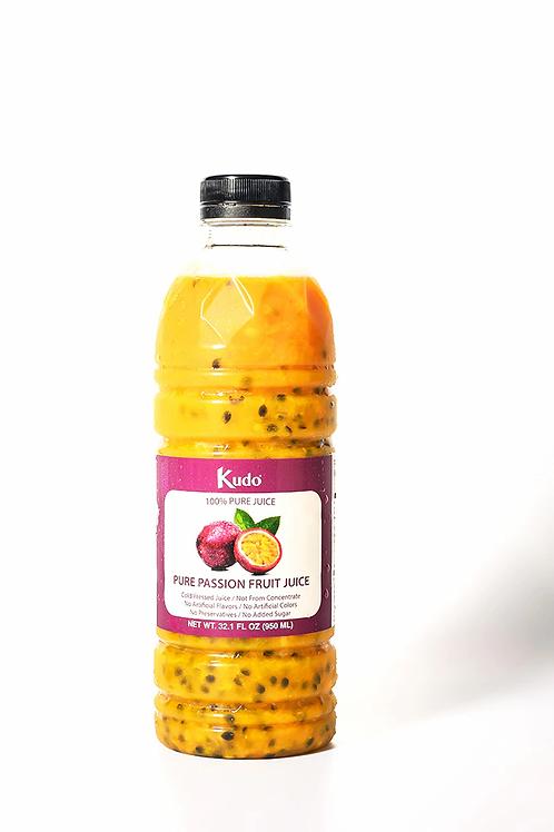 Kudo 100% Pure Passion Fruits Juice 冷凍新鮮百香果汁