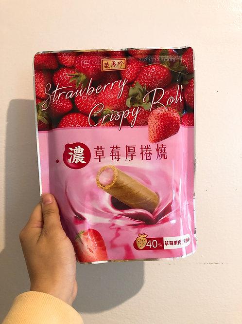 盛香珍 濃草莓厚捲燒