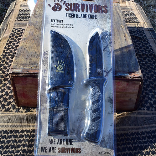 12 Survivors Fixed Blade Knife