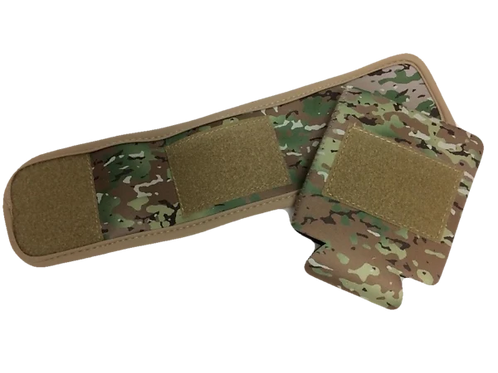 Camo Can or Cup Coozie with Patch