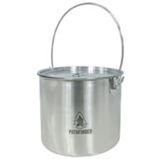 Stainless Steel 120oz Bush Pot And Lid