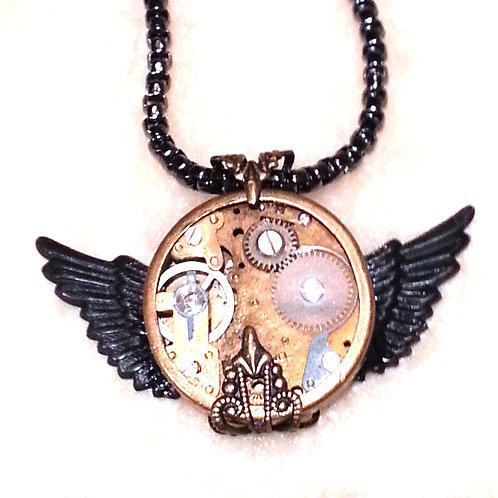 Wings of Time Necklace