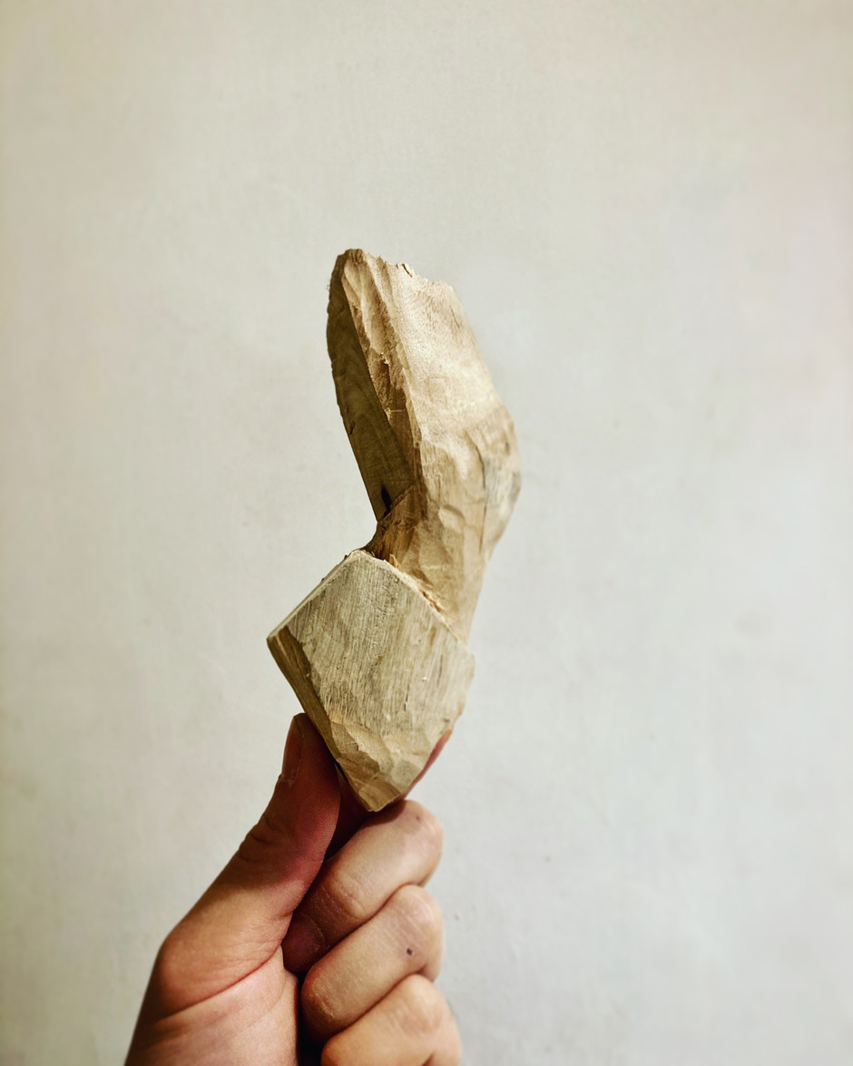 Horse leg wood sculpture