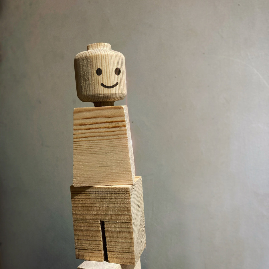 handmade wood figure