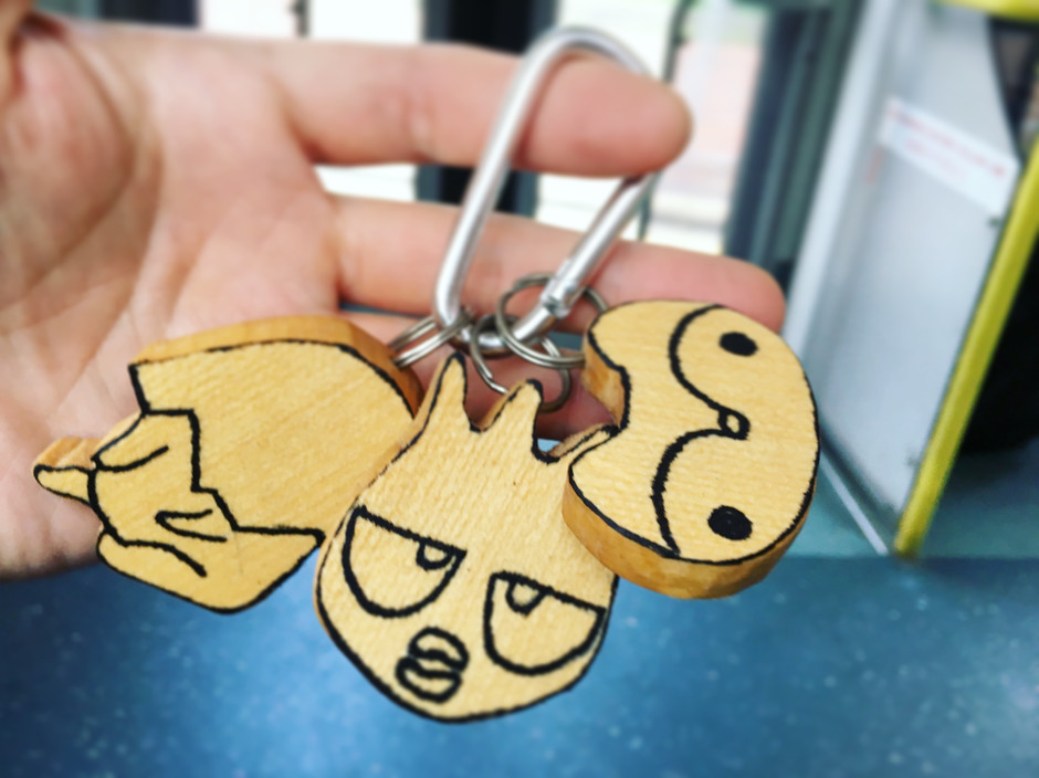 wood cartoonkeychain workshop in teenager center