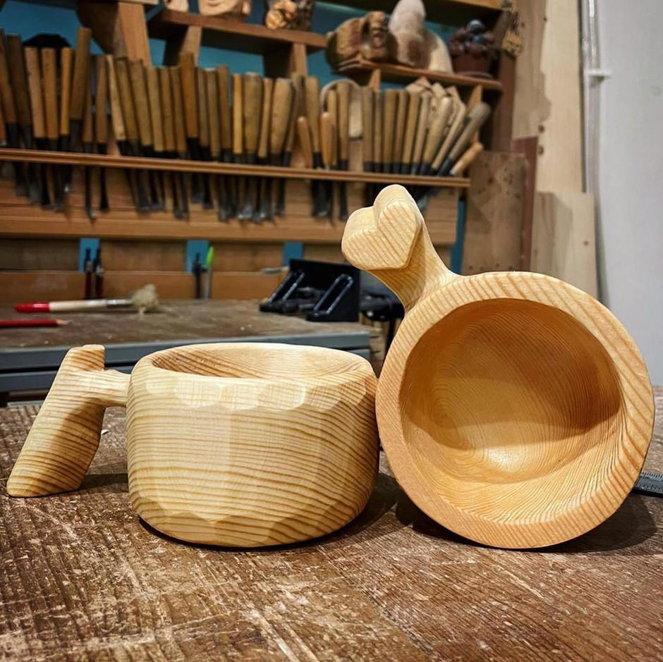 nice wood cup~