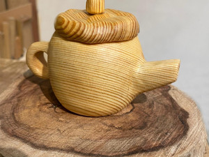 wooden teapot