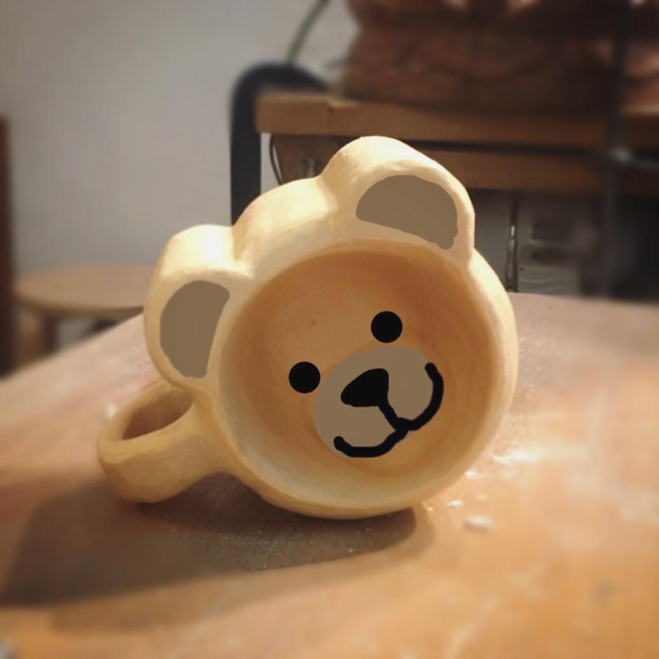 bear woodcup