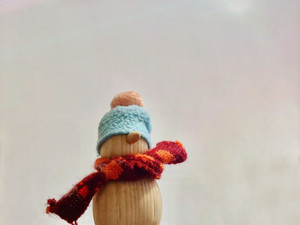 snowman with decoration
