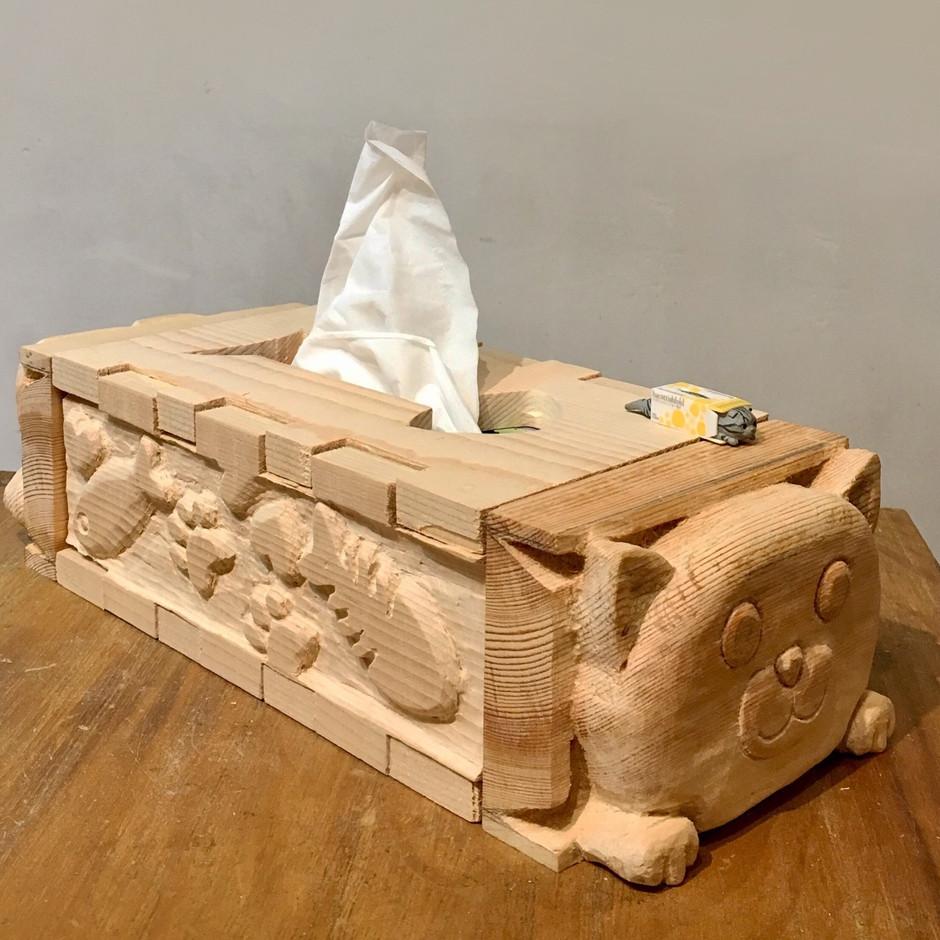 Tissue wood box