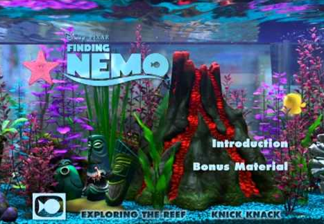 Finding Nemo Virtual Aquarium