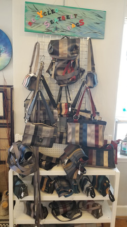 Recycled Seatbelt Bags