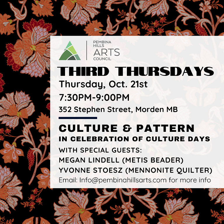 Third Thursdays: Culture & Pattern
