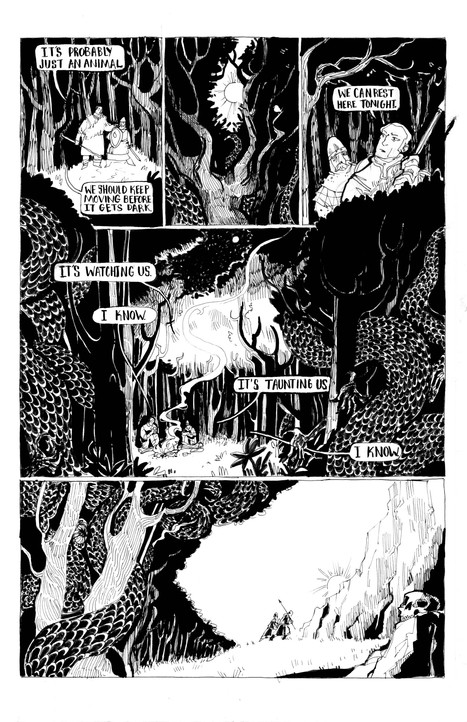 """""""The Lamb""""  Self Published  Written, Illustrated & Lettered by: V. Gagnon"""