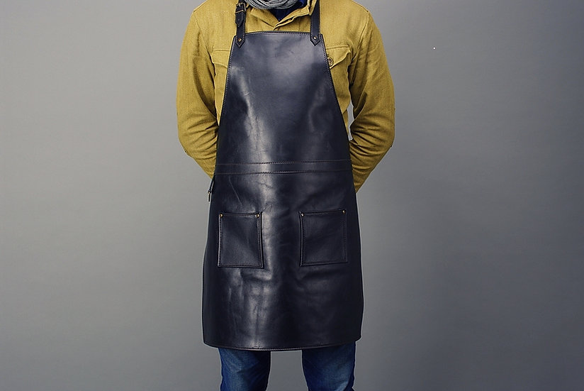 Leather Apron / Luxury Black Real Leather Apron